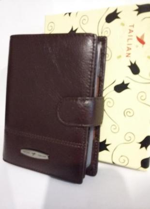 Портмоне кошелек кожаное кожа паспорт права tailian