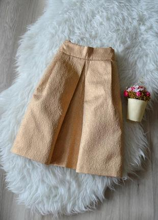 Золотистая юбка со складкой reserved1