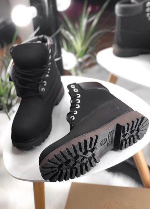 Темно-коричневые зимние ботинки унисекс timberland с мехом разные размеры в наличии2