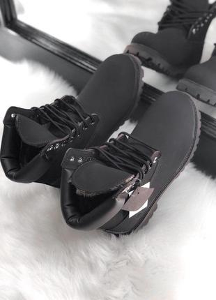Темно-коричневые зимние ботинки унисекс timberland с мехом разные размеры в наличии4