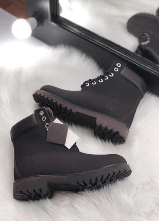 Темно-коричневые зимние ботинки унисекс timberland с мехом разные размеры в наличии1