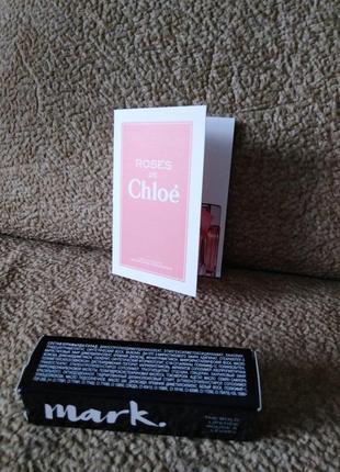 Набор духи roses de chloe+ помада, пробник духи, миниатюра, оригинал, хлое4