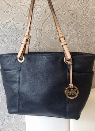 Vip люксовая сумка из высококачественной натуральной кожи michael kors, номер, оригинал!