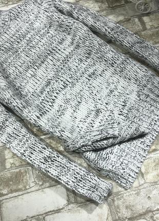 Тёплый объёмный свитер оверсайз меланж вязаный под горло, свободный2 фото