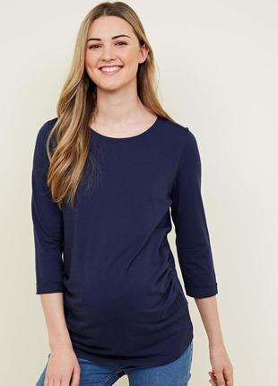 Яркий трикотажный реглан для беременных, удлиненная футболка 3/4 рукав1