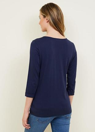 Яркий трикотажный реглан для беременных, удлиненная футболка 3/4 рукав3