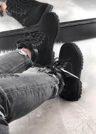 Черные женские зимние ботинки timberland с мехом разные размеры в наличии4