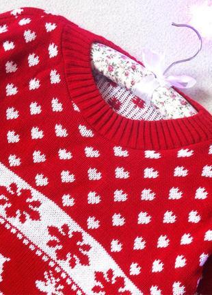 Новогодний,рождественский свитер с красивымы рисункоми, размер 40(12)5