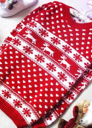 Новогодний,рождественский свитер с красивымы рисункоми, размер 40(12)3