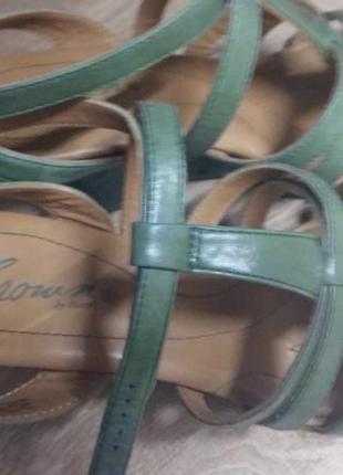 Фирменные шикарные кожаные босоножки с анатомической мягкой стелькой5