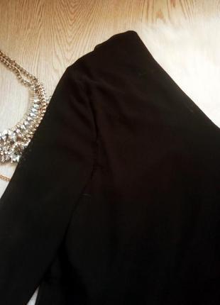 Черная блуза с длинным рукавом и цветочными нашивками батал большой размер туника5 фото