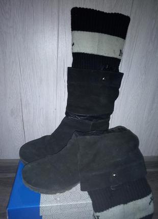 Зимние замшевые сапоги2