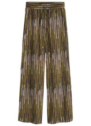 Брюки клеш h&m. разноцветные брюки палаццо1 фото