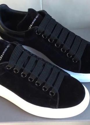 Черные женские зимние кроссовки alexander mcqeen разные размеры в наличии5