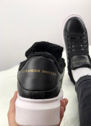 Черные женские зимние кроссовки alexander mcqeen разные размеры в наличии3