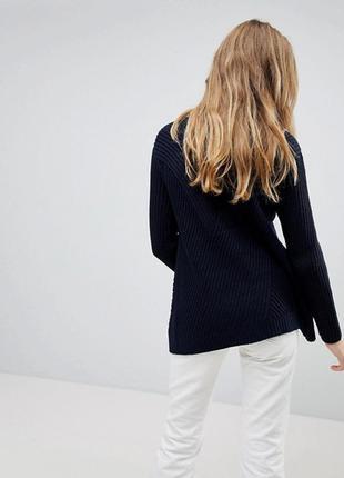Тёплый свитер оверсайз в рубчик, свободный вязаный джемпер расклешенный3