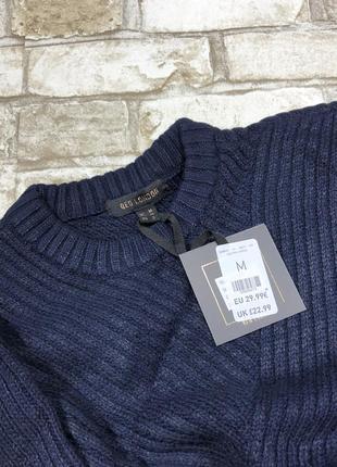 Тёплый свитер оверсайз в рубчик, свободный вязаный джемпер расклешенный5