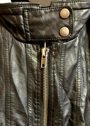 Куртка- бомбер с капюшоном( экокожа) большой размер xxxl. унисекс3