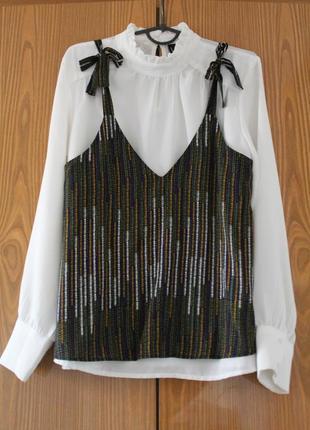 Милая блуза h&m с бантами. есть брючный костюм3 фото