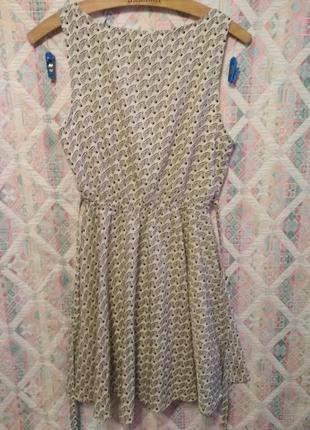 Платье летнее с зебрами карманы4 фото