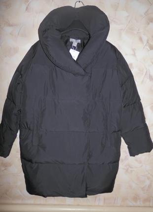 Очень крутая актуальная зимняя оверсайз куртка пальто одеяло от бренда h&m тренд 2018!4