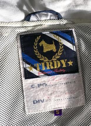 Женская синяя куртка ветровка с капюшоном итальянского бренда tirdy5