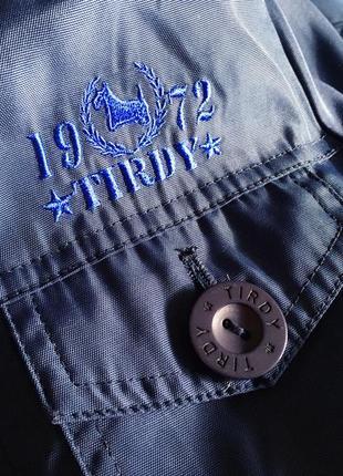 Женская синяя куртка ветровка с капюшоном итальянского бренда tirdy4