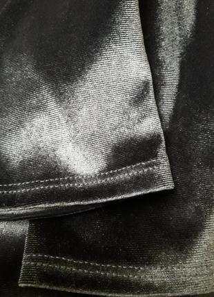 Бархатные лосины zara. штаны zara. высокая посадка4 фото