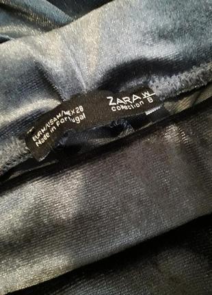 Бархатные лосины zara. штаны zara. высокая посадка5 фото