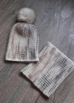 Комплет шапка   баф1