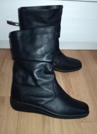 Кожаные ботинки,полусапожки1