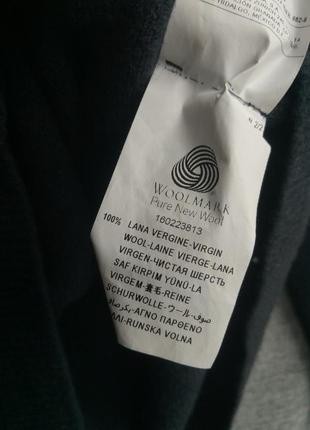 Шикарный базовый шерстяной кардиган,серый кардиган,теплый свитер,100% шерсть,benetton5
