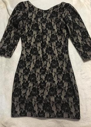 Платье вечернее, красивая спинка, молния сзади1 фото