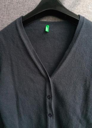 Шикарный базовый шерстяной кардиган,серый кардиган,теплый свитер,100% шерсть,benetton2
