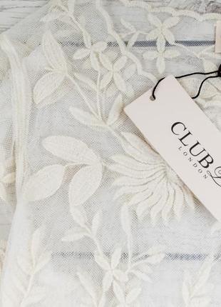 Кружевная блуза от club london  рр 16 наш наш 502