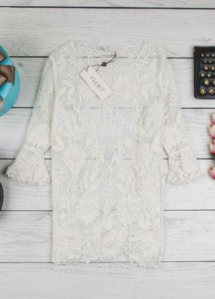 Кружевная блуза от club london  рр 16 наш наш 501