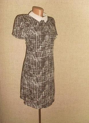 Boohoo стильное платье. шифон. р. 10-12