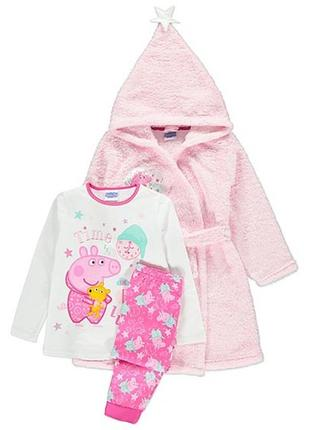 Халат и пижама george 4-5 лет свинка пеппа