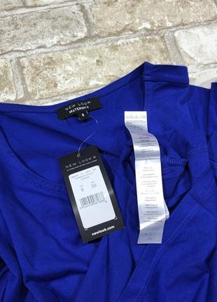 Яркий трикотажный реглан для беременных, удлиненная футболка 3/4 рукав5