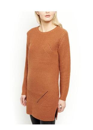 Актуальное платье туника вязаное тёплое, свитер длинный1