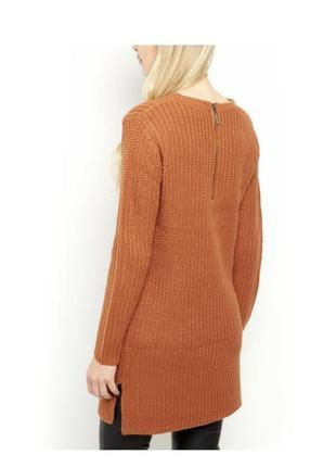 Актуальное платье туника вязаное тёплое, свитер длинный2