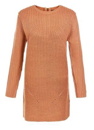 Актуальное платье туника вязаное тёплое, свитер длинный3