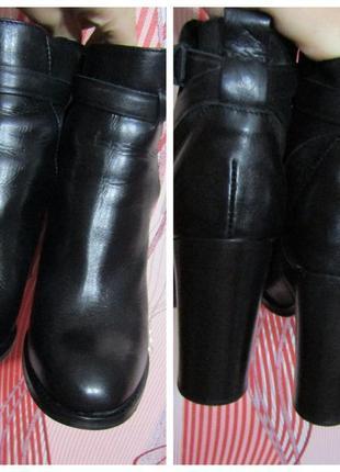 Шикарные кожаные нарядные ботильоны женские5