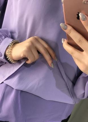 Шикарная блуза с рукавами-фонариками новая2