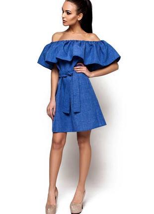Новое брендовое платье с воланом на груди1
