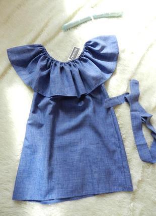 Новое брендовое платье с воланом на груди3