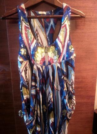 Літнє плаття pinko з паєтками1 фото