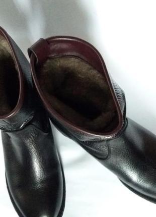 Люкс качества кожаные утепление сапоги полусапожки в размере36, 37,38,394 фото