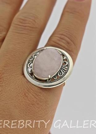 10% скидка - подписчикам! кольцо серебряное с розовым кварцем размер 18. h 1316 wpi 181