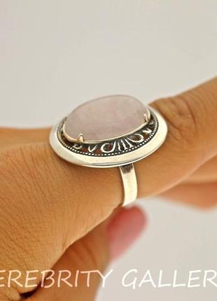 10% скидка - подписчикам! кольцо серебряное с розовым кварцем размер 18. h 1316 wpi 183
